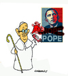 Cartoon: American Graffiti (small) by Carma tagged usa,pope,obama