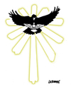 Cartoon: Holy Shadow (small) by Carma tagged religion,spirit,vatican,vatileaks