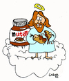 Cartoon: Nutella in Heaven (small) by Carma tagged nutella,ferrero,god,sweets,labells
