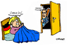 Cartoon: Opening (small) by Carma tagged angela,merkel,opens,to,tsipras,greece,germany,politics