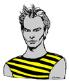 Cartoon: Sting (small) by Carma tagged sting,music,rock,celebrities