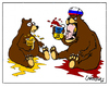 Cartoon: Ukraine (small) by Carma tagged ukraina,ukraine,putin,russia,war,onflicts,politics,bears,animals
