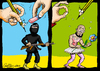 Cartoon: The Power of Cartoons (small) by carloseco tagged terrorism,security,conflicts,war