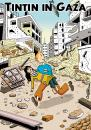 Cartoon: Tintin in Gaza (small) by carloseco tagged tintin,gaza,palestina