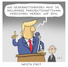 Cartoon: Safety first (small) by Uliwood tagged trump,us,wahlen,usa,politik,verschiebung,corona,donald,sicherheit,amerika,demokratie