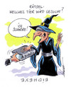Cartoon: Bilderrätsel (small) by Hoevelercomics tagged hexe,witch