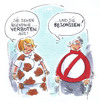 Cartoon: Verboten (small) by Hoevelercomics tagged dress