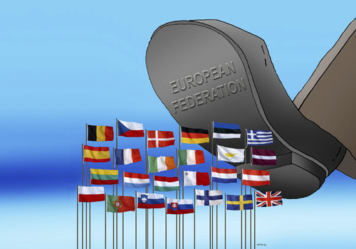 Cartoon: european federation (medium) by kotrha tagged europe,federation,state
