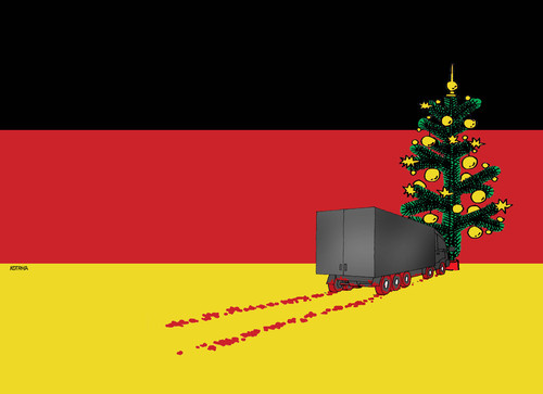 Cartoon: gerchristmas (medium) by kotrha tagged europa,germany,berlin,teror,christmas