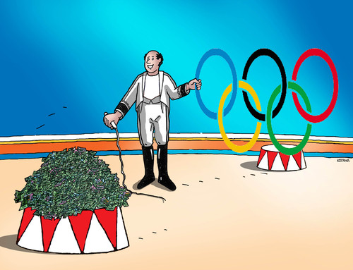 Cartoon: olympcirc (medium) by kotrha tagged rio,2016,olympic,games,sport,brasil