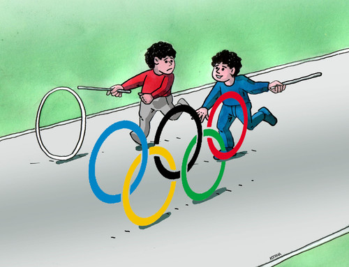 Cartoon: olympkolo (medium) by kotrha tagged rio,2016,olympic,games,sport,brasil