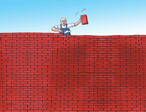 Cartoon: trumurar19 (medium) by kotrha tagged donald,trump,usa,mexico,walls
