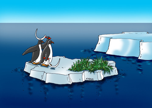 Cartoon: tucnokosci (medium) by kotrha tagged earth,climate,changes,warming,melting,glaciers