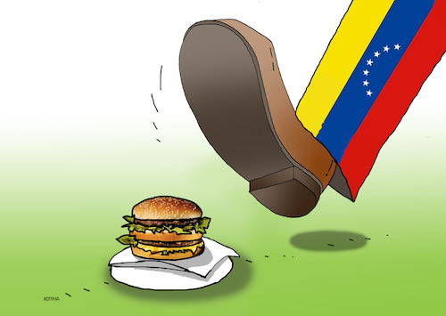 Cartoon: veneslap (medium) by kotrha tagged maduro,venezuela,usa