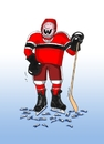 Cartoon: bitkar (small) by kotrha tagged ice,hockey