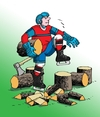 Cartoon: drevorubac (small) by kotrha tagged ice hockey