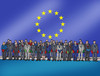 Cartoon: eusummit (small) by kotrha tagged eu,summit,brexit,europa,cameron,referendum