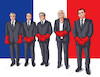 Cartoon: franceprezidents (small) by kotrha tagged france,president,elections,le,pen,europa,euro,world
