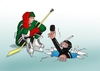 Cartoon: potapac (small) by kotrha tagged ice hockey