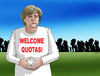 Cartoon: quotas (small) by kotrha tagged refugees,quotes,europe,germany,eu,usa,euro,world,merkel