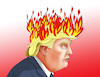 Cartoon: trumpfire (small) by kotrha tagged usa,trump,protests