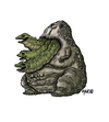 Cartoon: larve (small) by maucho tagged larva