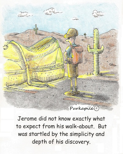 Cartoon: Walk-a-bout (medium) by armadillo tagged golden,shoe,walk,surprise
