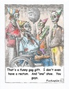 Cartoon: Zombie birthday (small) by armadillo tagged zombie,birthday,shoe,hats,fun