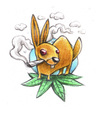 Cartoon: Easter bunny (small) by Trippy Toons tagged easter,bunny,ostern,osterhase,hase,rabbit,kaninchen,trip,trippy,smoke,smoking,rauch,rauchen,weed,ganja,marijuana,marihuana,cannabis,stoner,stoned,kiffen