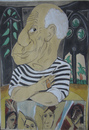 Cartoon: Pablo Picasso (small) by SAPIENS tagged cartoon,drawing,colour
