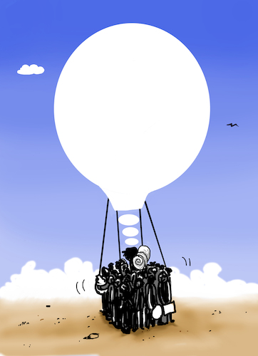 Cartoon: dream (medium) by kotbas tagged migration,immigrant,refugee,way,war,peace,idea,dream