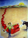 Cartoon: long red (small) by kotbas tagged bull,matador,red
