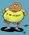 Cartoon: Peace (small) by kotbas tagged fake,peace,bomb
