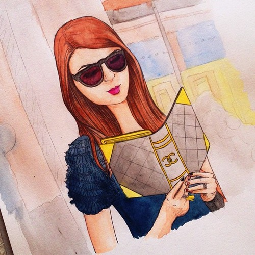 Cartoon: street style (medium) by naths tagged girl,chanel,street,style