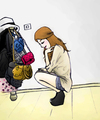 Cartoon: a girl in her room (small) by naths tagged bags,fashion,girl