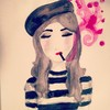 Cartoon: little french girl (small) by naths tagged cigarrette,smoke,smoking,girl,french,fashion,cute