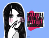 Cartoon: my little tornado (small) by naths tagged girl,smoking,cigarrette,smoke,the,kills,colours