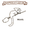 Cartoon: Hechse (small) by puvo tagged hexe,echse,wortpiel