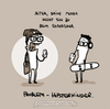 Cartoon: Shavasana. (small) by puvo tagged yoga,shavasana,hipster,mutter,mudda,jugendsprache