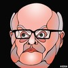 Cartoon: George Brandis (small) by KEOGH tagged george,brandis,caricature,australia,keogh,cartoons,politics,australian,politicians