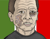 Cartoon: Berlusconi (small) by javierhammad tagged berlusconi,attack,italy,pain,hurt,damage