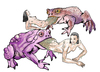 Cartoon: Frog and princesses (small) by javierhammad tagged tale,frog,princess,terror