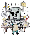Cartoon: I need more money! (small) by javierhammad tagged crisis,money,job,abuse,power