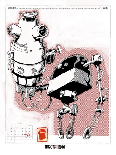 Cartoon: Robots en mi blog 07 (medium) by coleganelson tagged robot