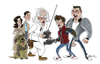 Cartoon: back to the future (small) by stephen silver tagged back,to,the,future,michael,fox,stephen,silver