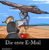Cartoon: Die Geschichte der EMail (small) by perugino tagged email,elektronische,post,internet
