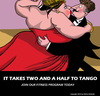 Cartoon: Tango (small) by perugino tagged gym,fitness,dance,tango