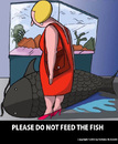 Cartoon: The Warning (small) by perugino tagged aquarium,animals,fish