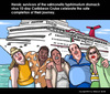 Cartoon: West Caribbean Cruise (small) by perugino tagged cruises,travel,caribbean