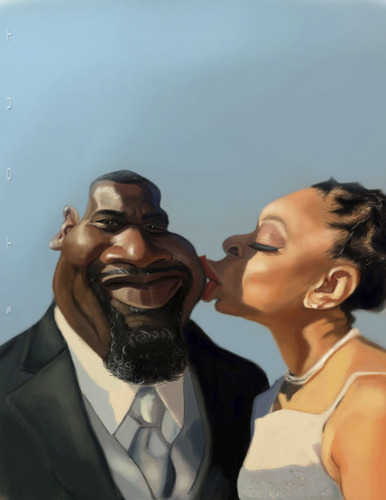 Cartoon: Newly Weds (medium) by doodleart tagged caricature
